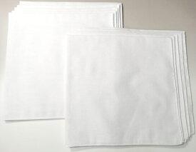 【送料無料】日本製国産 無地バンダナ(白)【10枚セット】(綿コットン100% 三角巾 スカーフ ハンカチ ホワイト) bandana white
