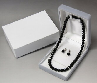 Made in Japan-natural black coral (Coral) ceremonial, dress, formal formalwear and wake, funeral and memorial service, condolatory necklace earrings set