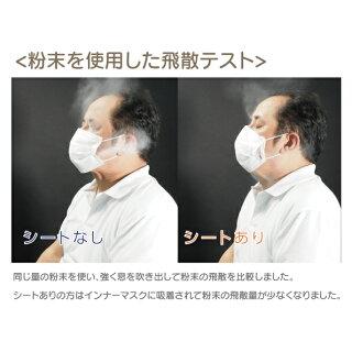 【送料無料】【マスクが長持ち 化粧汚れ対策  快適体験!】インナーマスクシート BG-50【不織布製 取り替えシート 50枚入 布マスクOK】
