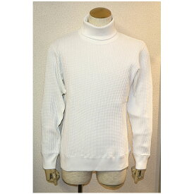 JEMORGAN(ジェーイーモーガン)ビッグワッフル長袖タートルネックカットソー 3色ホワイト ブラック グレー