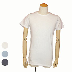 DSTREZZED(ディストレス)半袖無地Tシャツホワイト チャコール ライトブルー