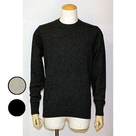 gim(ジム)10Gカシミヤ100%杢天竺クルーネックセーター 日本製3サイズ M L XL2色グレー ブラック