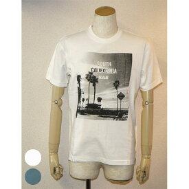 SAS(エスエーエス)ピグメントフォトTシャツ(SOUTH)メンズ 2色ブルー・オフホワイト