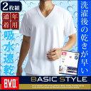 【メール便専用・送料無料】「お買得な2枚組+吸水速乾」B.V.D. BASIC STYLE Vネック半袖Tシャツ nb205