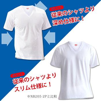楽天限定コラボ「お買得な2枚組+吸水速乾」B.V.D.深Vネック半袖Tシャツメンズインナーシャツ下着rt660-2p
