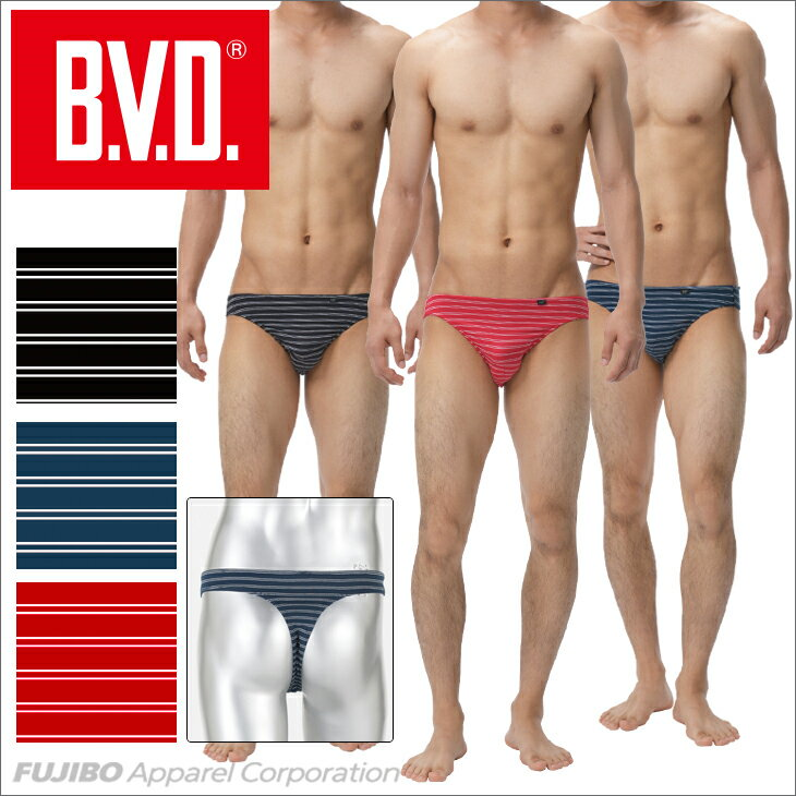 B.V.D. Tバック 「ラインボーダー」【セクシー】 【コンビニ受取対応商品】 gr183d