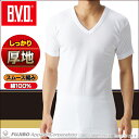 BVD あったか厚地スムースV首半袖Tシャツ WARM BIZ ウォームビズ 防寒インナー あったか メンズ 綿100% gf941