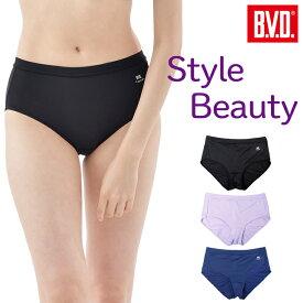 BVD StyleBeauty 吸水速乾 1分丈 ショーツ (M/L) B.V.D. bvd 接触冷感 UVカットフラット 単品 パンツ パンティー レディス 女性 blms20