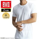 【メール便専用・送料無料】丸首半袖Tシャツ 2枚組 BVD NEW STANDARD 丸首半袖Tシャツ/メンズインナー/【綿100%】/イ…