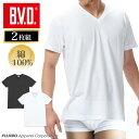 【メール便専用・送料無料】Vネック半袖Tシャツ 2枚組 BVD NEW STANDARD/メンズインナー/【綿100%】インナーシャツ ey…