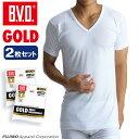2枚組セット!B.V.D. GOLD V首半袖シャツ(スッキリタイプ) LLサイズ BVD 綿100% シャツ メンズ インナーシャツ g044-2p