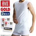 B.V.D.GOLD スリーブレス 2枚セット S,M,L  BVD 【綿100%】 シャツ メンズ インナーシャツ ノースリーブ 下着【白】 【コンビ…