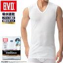 BVD 吸水速乾フライス V首スリーブレス メッシュ Vネック インナーシャツ gf070