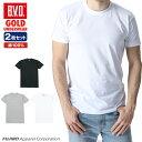 【期間限定50%OFF】B.V.D.GOLD クルーネックTシャツ 2枚セット LL 大きいサイズ BVD B.V.D. 【綿100%】丸首 メンズ …