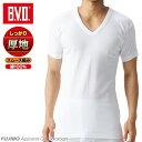 BVD あったかインナー 綿100% 厚地スムース V首半袖Tシャツ 防寒 インナー あったか メンズ tシャツ 暖か bvd V首 v…