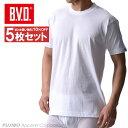 送料無料5枚セット!B.V.D.Finest Touch EX クルーネックTシャツ(M.L) 【白】【日本製】 【コンビニ受取対応商品】 g…