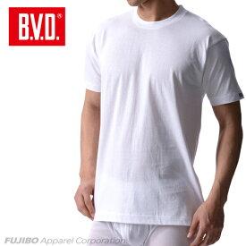 B.V.D.Finest Touch EX クルーネックTシャツ(M.L) 日本製 【綿100%】 シャツ メンズ インナーシャツ 下着 抗菌 防臭【白】【日本製】 【コンビニ受取対応商品】 gn303