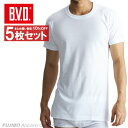 送料無料5枚セット!B.V.D.Finest Touch EX  丸首半袖Tシャツ(S.M.L) 日本製 【綿100%】 シャツ メンズ インナー…
