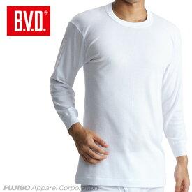 B.V.D.Finest Touch EX 丸首8分袖Tシャツ(LL) 日本製 【綿100%】 シャツ メンズ インナーシャツ 下着 肌着 抗菌 防臭【白】【日本製】 【コンビニ受取対応商品】 gn317 コットン