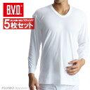 送料無料5枚セット!B.V.D.Finest Touch EX U首8分袖Tシャツ(S.M.L) 日本製 【綿100%】 シャツ メンズ インナーシ…