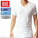 B.V.D.Finest Touch EX V首半袖Tシャツ(M.L) 綿100%/日本製 インナーシャツ 【コンビニ受取対応商品】