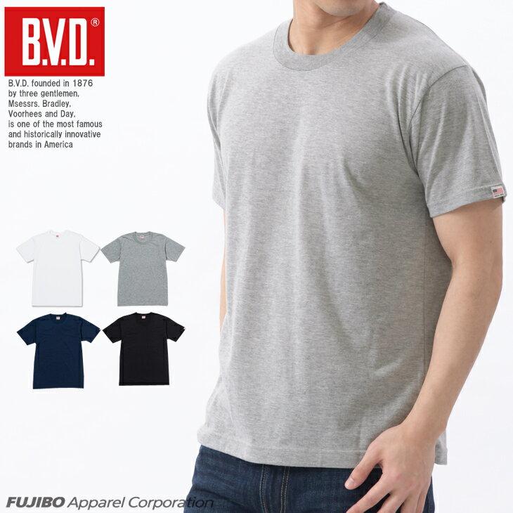 【メール便送料無料】B.V.D. 定番クルーネック半袖Tシャツ 無地 吸水速乾
