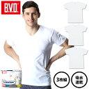 【3枚組】B.V.D.INTERNATIONAL VネックTシャツ 吸水速乾 通年 やわらか 綿混 インナー メンズ ムレ 吸汗速乾 ソフト nx004-3p