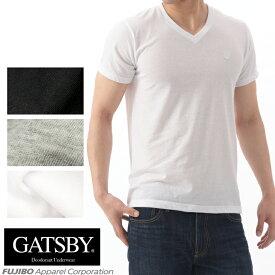 GATSBY 消臭デオドラントネーム V首半袖Tシャツ ギャッツビー Vネック/メンズインナー/ 【コンビニ受取対応商品】 r0112b