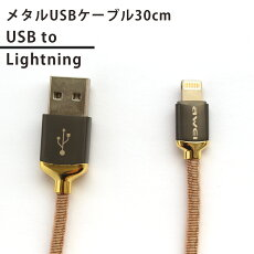 Lightning-USBメタルUSBケーブル(30cm)