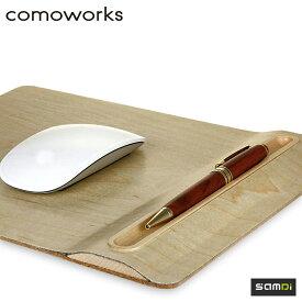 マウスパッド 木目調 アップルペンの収納もOK SAMDi(サムディ)