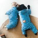 フレンチブルドック 服 オールインワン パジャマ ロンパース 冬 秋 部屋着 つなぎ 暖かい 犬服 ドックウェア いぬペッ…
