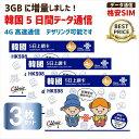 韓国SIM ChinaUnicom 韓国5日間データ通信SIMカード ※開通期限2020/06/30 お得な3枚セット!!