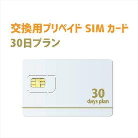 テレワーク向け30日プラン 交換用プリペイドSIMカード