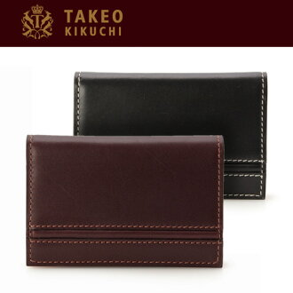 Presence ★ Takeo Kikuchi business card holder, (two-color) Dupuis (DU PUY) Bock scarf smooth, beautiful business card case / card holders business card case /TAKEO KIKUCHI / gifts
