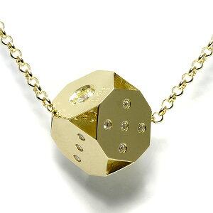 18金 ネックレス メンズ ダイス ダイヤモンド【MODEAL】【送料無料】 18k サイコロ k18 ゴールド ブランド 男性