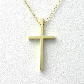 クロス ネックレス k18 ゴールド 【送料無料】金無垢 メンズ レディース ペンダント 18k gold Cross Pendant Necklace 男性 女性 十字架 18金 クロスネックレス シンプル