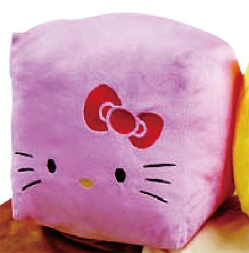【タイムセール】BIGキューブクッション ハローキティ(ピンク)【 クッション 雑貨 ファンシー キャラクター 】