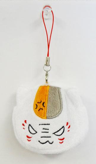 【 タイムセール 】夏目友人帳 ミニフェイスポーチストラップ (怒り)【ニャンコ先生 アニメ 小銭入れ  】