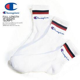 チャンピオン 靴下 CHAMPION FULL LENGTH 3P SOCKS -SCRIPT- ストリート系 ファッション