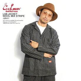 クックマン ジャケット COOKMAN LAB.JACKET WOOL MIX STRIPE -GRAY- ストリート系 ファッション