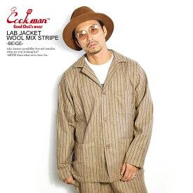 クックマン ジャケット COOKMAN LAB.JACKET WOOL MIX STRIPE -BEIGE- ストリート系 ファッション