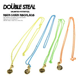 50%OFF SALE セール ダブルスティール ネックレス DOUBLE STEAL NEON CHAIN NECKLACE【ストリート系 ファッション】