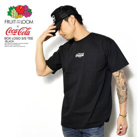 50%OFF SALE セール フルーツオブザルーム×コカ・コーラ Tシャツ FRUIT OF THE LOOM×Coca-Cola BOX LOGO S/S TEE -BLACK- ストリート系 ファッション