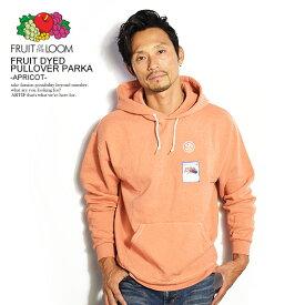 フルーツオブザルーム パーカー FRUIT OF THE LOOM FRUIT DYED PULLOVER PARKA -APRICOT- 0123-502fta ストリート系 ファッション