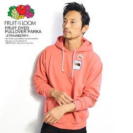 フルーツオブザルーム パーカー FRUIT OF THE LOOM FRUIT DYED PULLOVER PARKA -STRAWBERRY- 0123-502fta ストリート系 ファッション