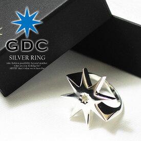 ジーディーシー GDC SILVER RING メンズ リング 指輪 アクセサリー シルバー 八角星 ストリート ファッション 送料無料 gdc【ストリート系 ファッション】