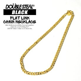 ダブルスティール DOUBLE STEAL BLACK FLAT LiNK CHAiNE NECKLACE 【 ネックレス チェーン】 ストリート メール便可【ストリート系 ファッション】
