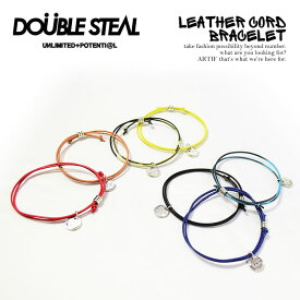 50%OFF SALE セール ダブルスティール DOUBLE STEAL LEATHER CORD BRACELET 452-90007 ストリート系 ファッション