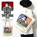 BEN DAVIS(ベンデイビス) PRINT TOTE BAG -FLAG-【メンズ 鞄 バッグ トートバッグ インポート ワーク ストリート】【ストリート系 ファッション】