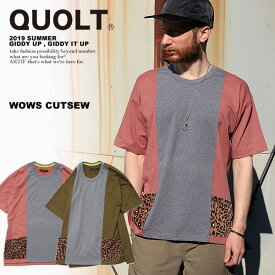 30%OFF SALE セール クオルト Tシャツ QUOLT WOWS CUTSEW【ストリート系 ファッション】